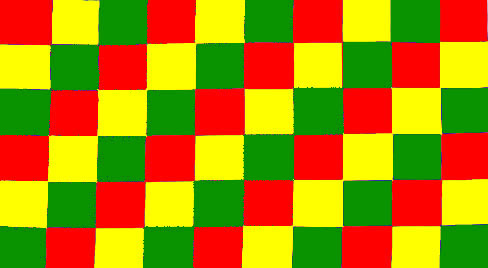 Racing Checkered Flag >> #2614 Red, green & yellow