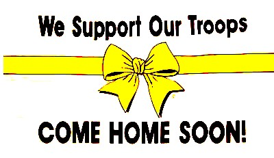 yellow ribbon with words