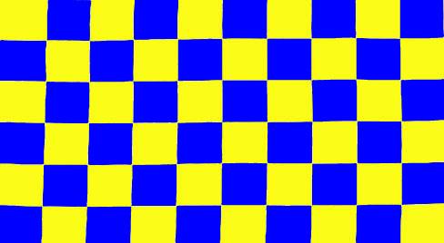 Racing Checkered Flag >> Blue & yellow
